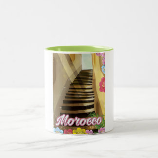 Old town Morocco travel poster Two-Tone Coffee Mug