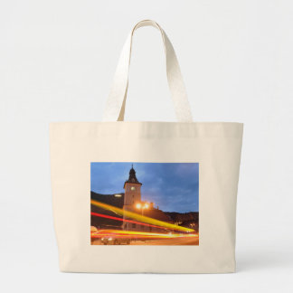 Old town of Brasov in Transylvania, Romania Large Tote Bag