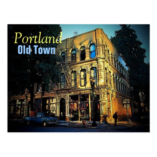 Old Town Portland Postcard