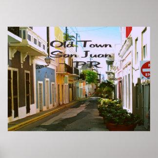 Old Town San Juan Puerto Rico Poster