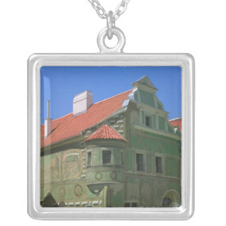 Old town square surrounded by 16th-century 2 silver plated necklace