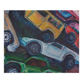 Old Toy Cars Poster
