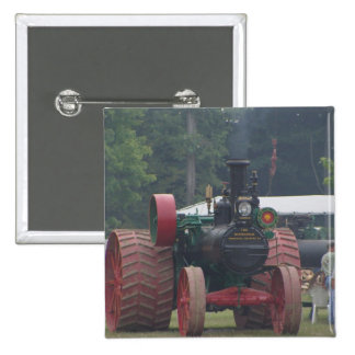 Old Tractor 15 Cm Square Badge