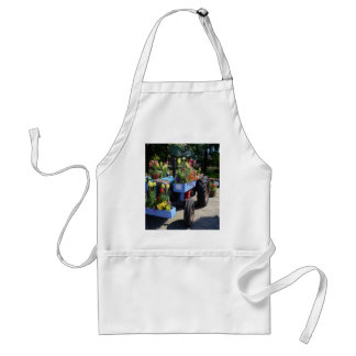 Old Tractor Floral Display Standard Apron