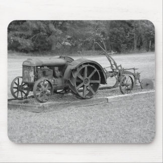 Old Tractor From The Past Mouse Mat