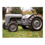 Old tractor in fall