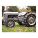 Old tractor in fall 11 cm x 14 cm invitation card