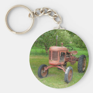 Old Tractor in the Orchard Key Ring