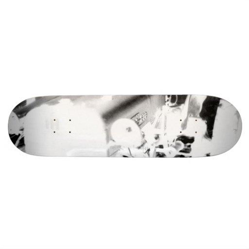 Old Tractor - negative Skateboard