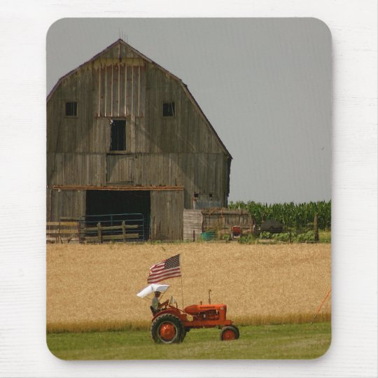 Old Tractor Patriotic Mousepad: Allis Chalmers Mouse Mat