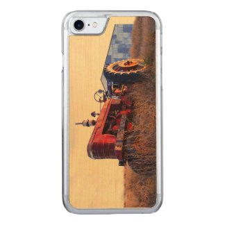 old tractor red machine vintage carved iPhone 8/7 case