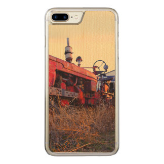 old tractor red machine vintage carved iPhone 8 plus/7 plus case