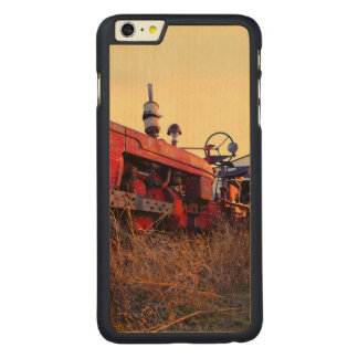 old tractor red machine vintage carved® maple iPhone 6 plus case