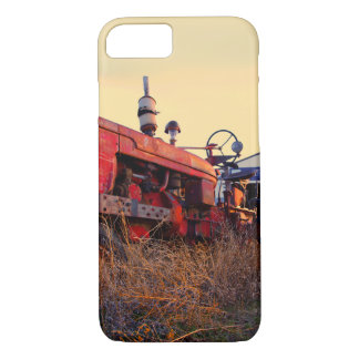old tractor red machine vintage iPhone 7 case