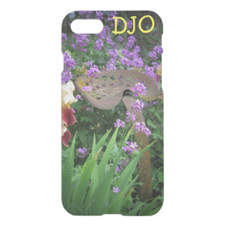 Old Tractor Seat, Flowers and your Initials iPhone 7 Case