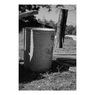 Old Trash Can Print