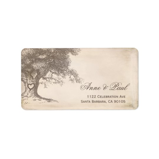 Old tree Address Labels