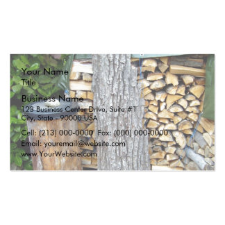 Old Tree Bark and Cut Logs Business Card