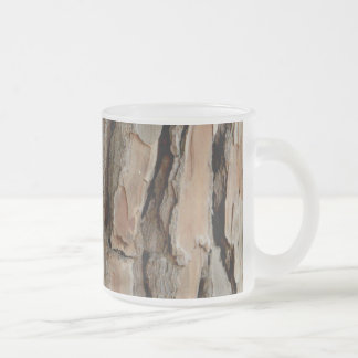 Old tree bark texture frosted glass mug