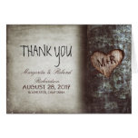 old tree heart wedding thank you cards
