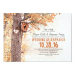 old tree rustic country wedding invitations