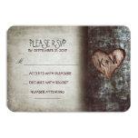 Old tree rustic wedding RSVP cards 9 Cm X 13 Cm Invitation Card