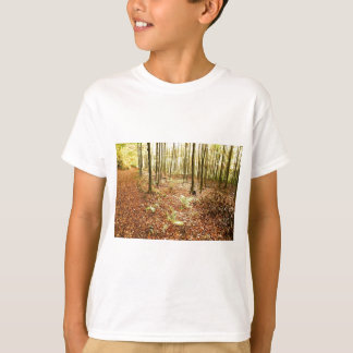 OLD TREES WITH LEAVES ON GROUND IN AUTUMN T-Shirt