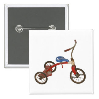 Old Tricycle 15 Cm Square Badge