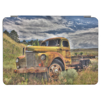 Old truck abandoned in field iPad air cover