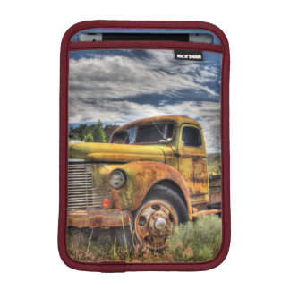 Old truck abandoned in field iPad mini sleeve