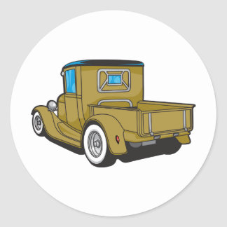 Old Truck Round Sticker