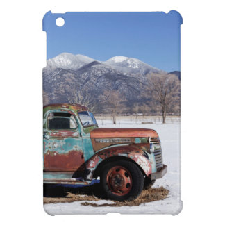 Old truck sitting in the field iPad mini cases