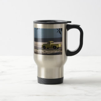 Old truck travel mug