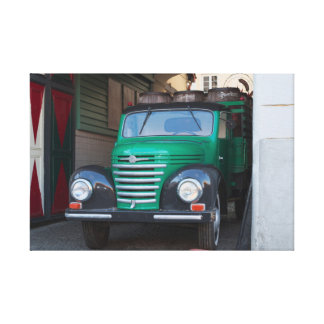 Old truck with beer - canvas