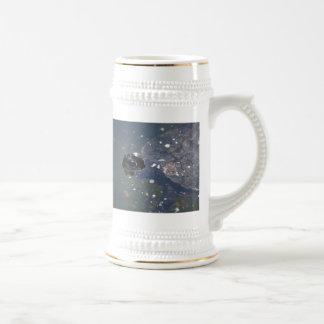 old turtle swimming coffee mug