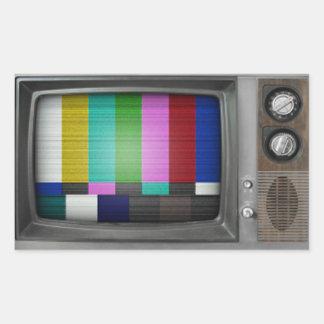 Old TV Rectangular Sticker