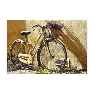 Old two wheel bicycle canvas print