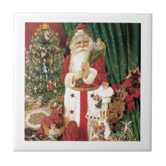 Old Tyme Santa Tile