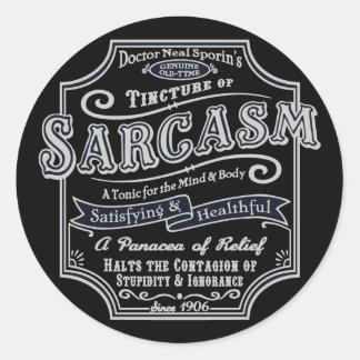 Old Tyme Sarcasm Classic Round Sticker