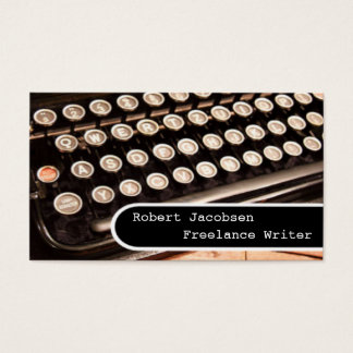 Old Typewriter Freelance Writer Business Cards