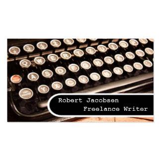Old Typewriter Freelance Writer Business Cards