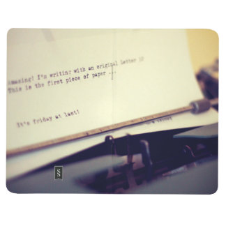 Old typewriter journal
