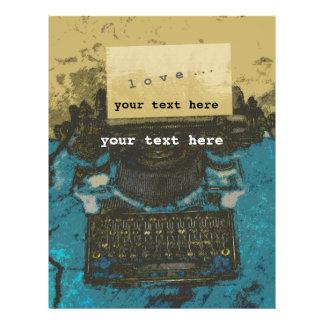 Old Typewriter Love Custom Flyer