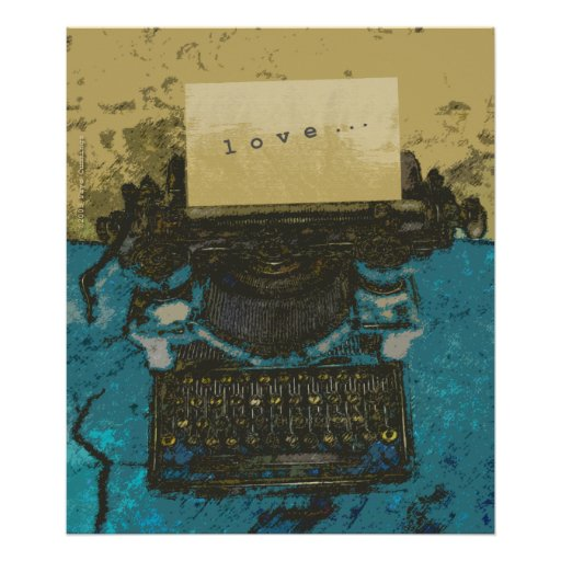 Old Typewriter Love Print