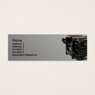 Old Typewriter Mini Business Card