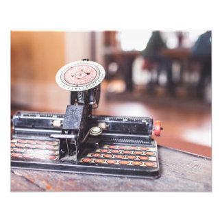 Old typewriter photo art
