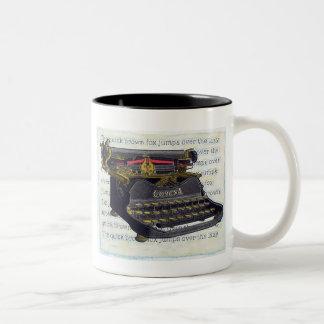 Old Typewriter Two-Tone Coffee Mug