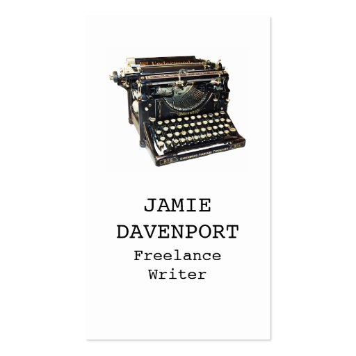 Old Typewriter Writer Journalist Author Business Business Cards