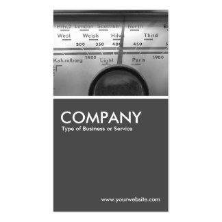 Old UK Radio Dial  - 70pc Gray Pack Of Standard Business Cards