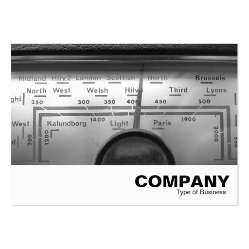 Old UK Radio Dial Business Card